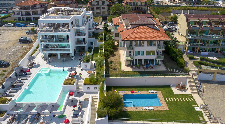 видеозаснемане хотели и заведения с дрон, хотел с басейни