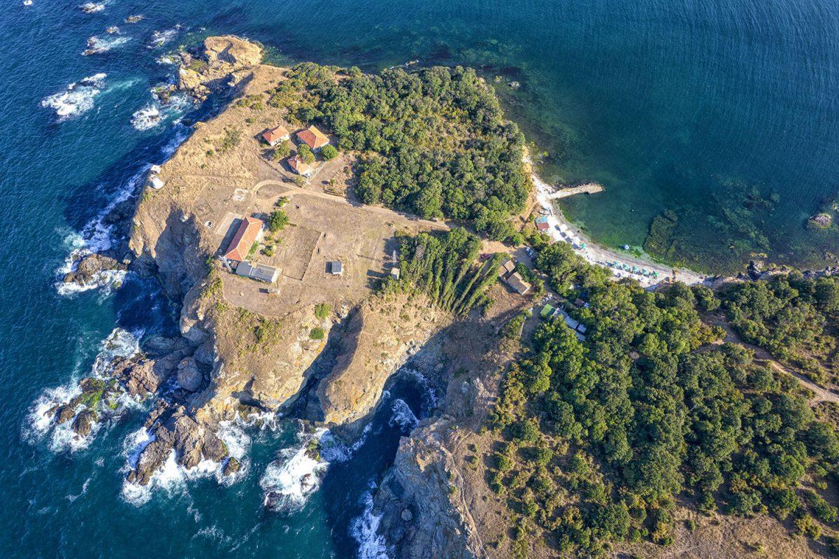 заснемане на въздушни панорами с дрон
